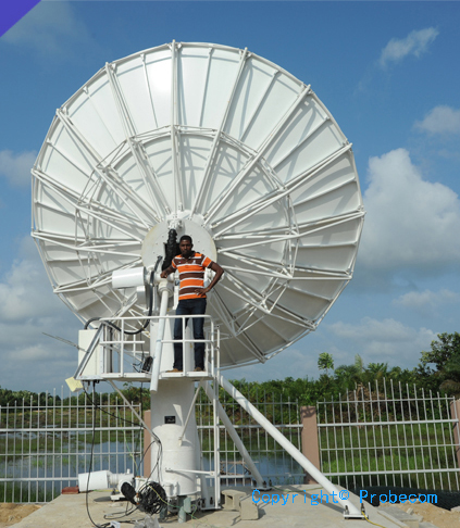 6.2m Extend C band TXRX motorized antenna system in Chad